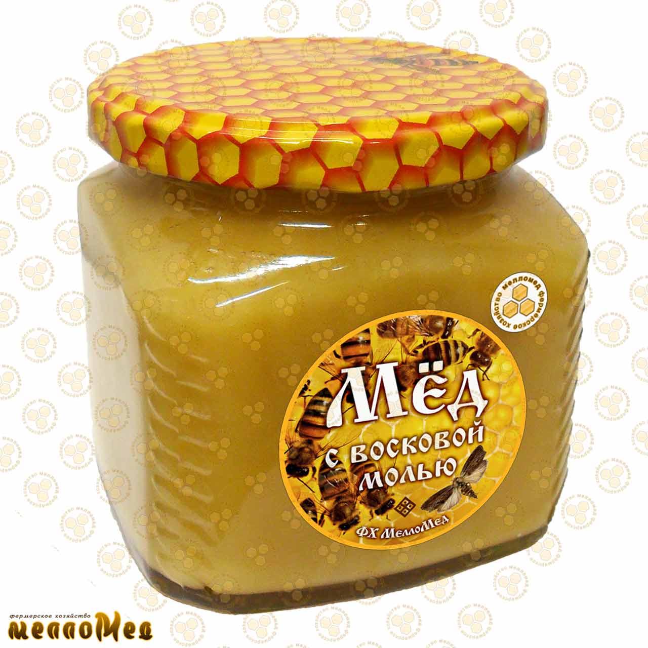 ВОСКОВАЯ МОЛЬ – лечебный мёд 575г